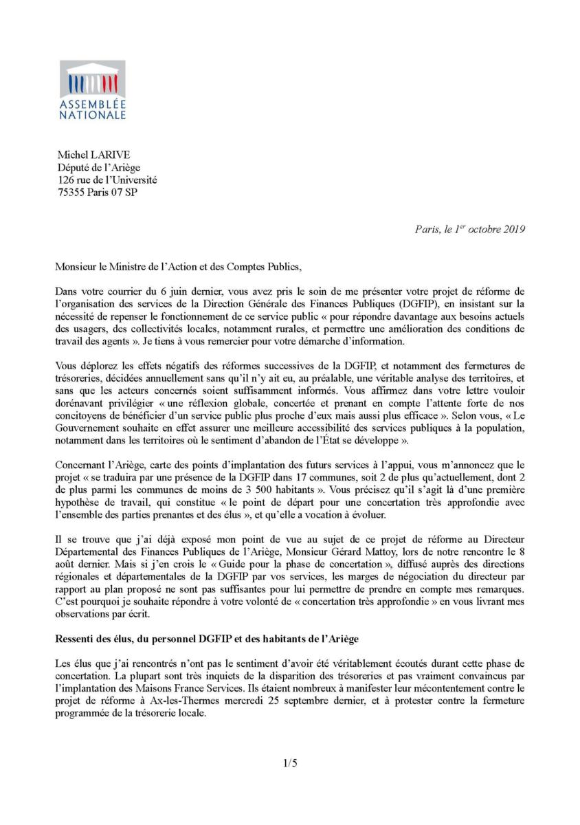 Courrier Darmanin Page 1